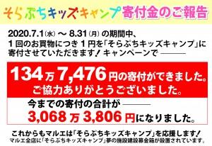 2020.9そらぷち募金報告